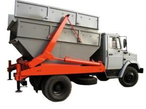 Бункер для вывоза мусора в Москве