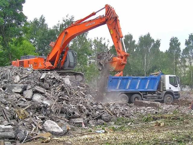 Вывоз мусора на Тверской