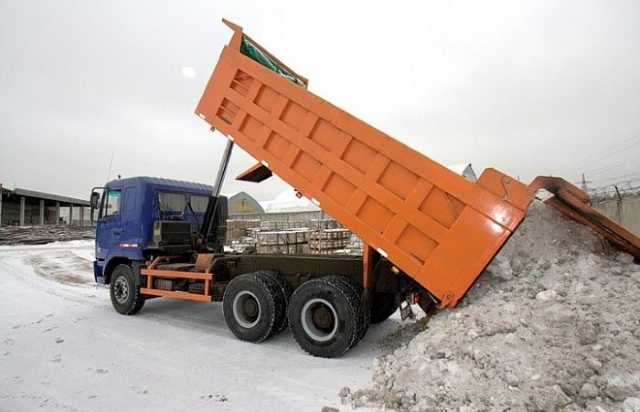 Вывоз снега КАМАЗом