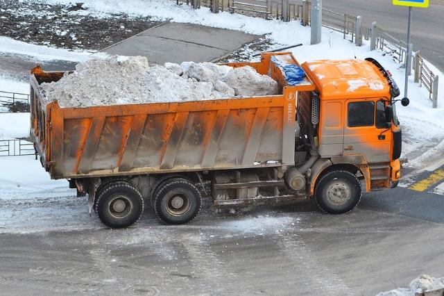 Вывоз снега контейнерами