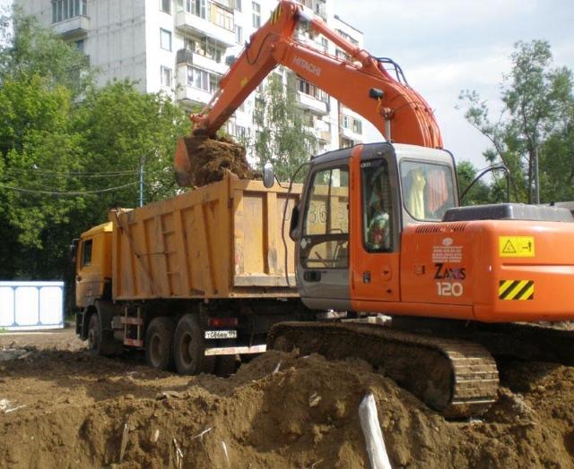 Вывоз грунта самосвалами 20 тонн